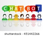 chatbot infographic as concept... | Shutterstock .eps vector #451442266
