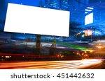 billboard blank for outdoor... | Shutterstock . vector #451442632