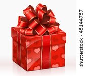 red gift box. vector... | Shutterstock .eps vector #45144757