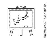 thin line school board with... | Shutterstock .eps vector #451448452