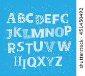 vector english funny alphabet... | Shutterstock .eps vector #451450492