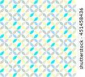 vector geometric circle pattern ... | Shutterstock .eps vector #451458436