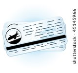 travel tickets. vector... | Shutterstock .eps vector #45145966