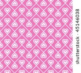 Retro Seamless Pattern Of Hearts