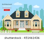 modern graphic private house... | Shutterstock .eps vector #451461436
