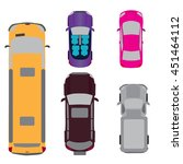 a set of five cars. coupe ... | Shutterstock . vector #451464112