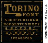 torino font    label font with... | Shutterstock .eps vector #451467916