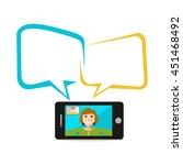 video call smartphone. video...
