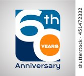 60 th years anniversary with... | Shutterstock .eps vector #451472332