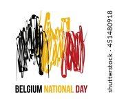 belgium national day vector...   Shutterstock .eps vector #451480918