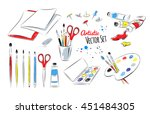 Vector Set Of Artists Supplies...