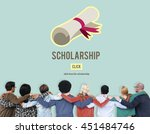 scholarship aid college... | Shutterstock . vector #451484746