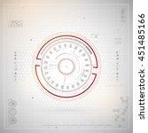 futuristic graphic user... | Shutterstock .eps vector #451485166