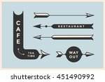 set of vintage arrows and... | Shutterstock . vector #451490992
