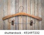 vintage clothes hanger on... | Shutterstock . vector #451497232