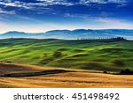 landscape tuscany in summer | Shutterstock . vector #451498492