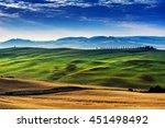 landscape tuscany in summer | Shutterstock . vector #451498492