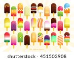 collection of ice cream icons.... | Shutterstock .eps vector #451502908