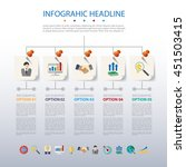 business infographic template.... | Shutterstock .eps vector #451503415