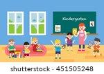 kindergarden vector... | Shutterstock .eps vector #451505248
