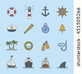 marine and nautical icon | Shutterstock .eps vector #451505266