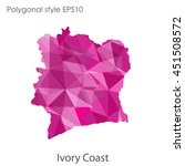 ivory coast map in geometric... | Shutterstock .eps vector #451508572