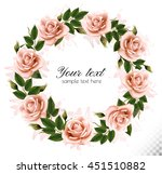 beautiful rose wreath. vector.   Shutterstock .eps vector #451510882