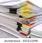 stacks of paper  business... | Shutterstock . vector #451511098