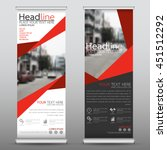 red roll up business banner...