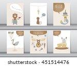 set of cute animals poster... | Shutterstock .eps vector #451514476