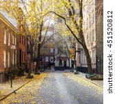 Fall Street Scene In The...