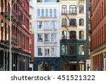 buildings in the soho... | Shutterstock . vector #451521322
