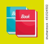 book isolated icon design ... | Shutterstock .eps vector #451524502