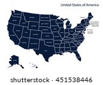 map of usa | Shutterstock .eps vector #451538446