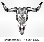 hand drawn romantic tattoo... | Shutterstock .eps vector #451541332