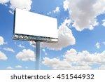 blank billboard with blue sky...   Shutterstock . vector #451544932