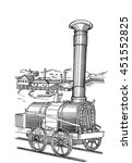 Steam Locomotive. Model Of The...