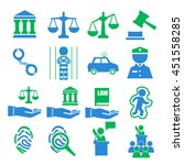 court icon set | Shutterstock .eps vector #451558285