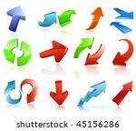 arrow icon set | Shutterstock .eps vector #45156286