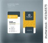 business card print template... | Shutterstock .eps vector #451565575