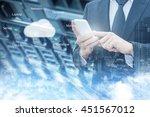 double exposure of professional ... | Shutterstock . vector #451567012