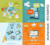 telecommunication 2x2 design... | Shutterstock .eps vector #451568452