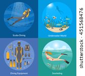 diving and snorkeling 2x2... | Shutterstock .eps vector #451568476