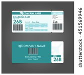 turquoise boarding pass. ... | Shutterstock .eps vector #451569946