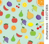 vector seamless pattern with... | Shutterstock .eps vector #451571806