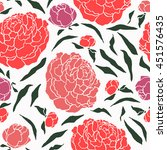 japanese style seamless floral... | Shutterstock .eps vector #451576435