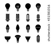 electricity lamp signs. light...   Shutterstock .eps vector #451581016