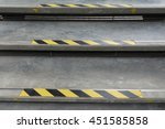 stairs and warning line sign   Shutterstock . vector #451585858