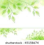 vector spring banner with green ... | Shutterstock .eps vector #45158674