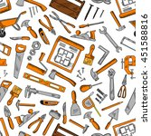 construction tools seamless... | Shutterstock .eps vector #451588816
